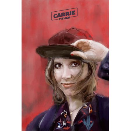 Carrie Fisher - plakat premium