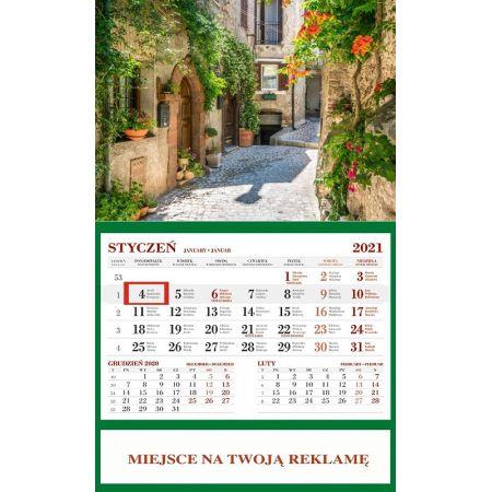 Kalendarz 2021 Ścienny Jednodzielny Toskania