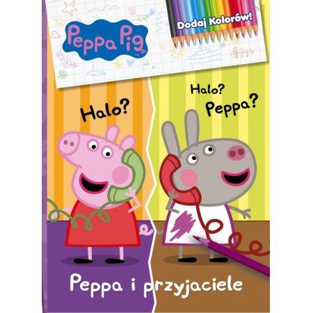 Świnka Peppa. Dodaj kolorów! Peppa i przyjaciele