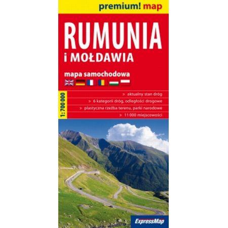 Rumunia i Mołdawia mapa samochodowa 1:700 000