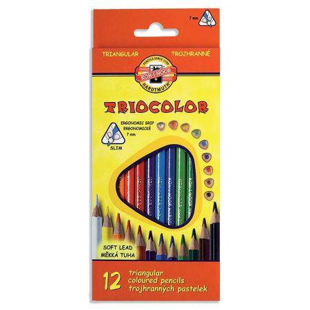Kredki Triocolor 7mm 12 kolorów KOH-I-NOOR