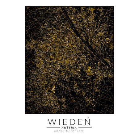 Wiedeń złota mapa - plakat