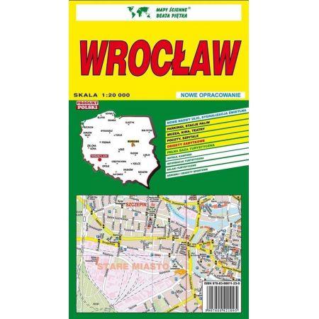 Wrocław 1:20 000 plan miasta PIĘTKA