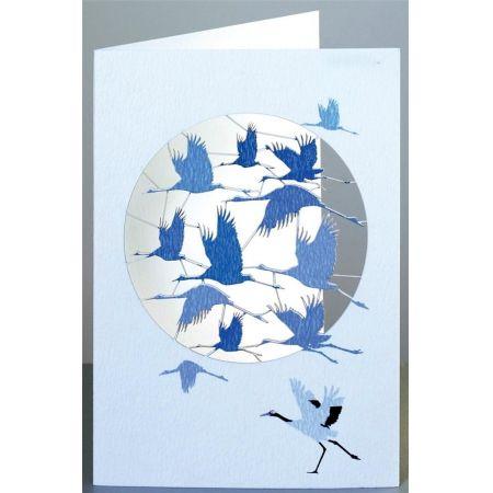 Karnet PM851 wycinany + koperta Żurawie