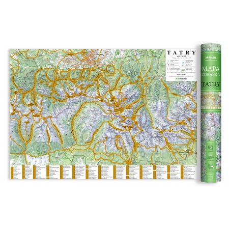 Tatry. Mapa zdrapka 1:50 000