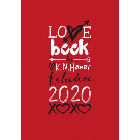 LOVE book by K.N. Haner. Kalendarz 2020