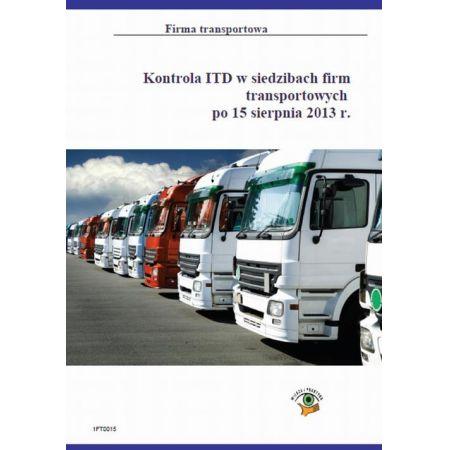 Kontrola ITD na drodze - co nas czeka po 15 sierpnia 2013 r.
