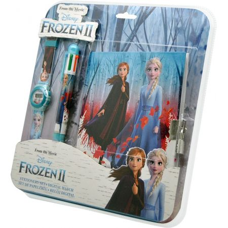 Zestaw z zegarkiem cyfrowym + długopisem + pamiętnikiem Frozen WD20749