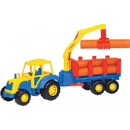 Traktor plastikowy z przyczepą 59cm POLESIE 35370