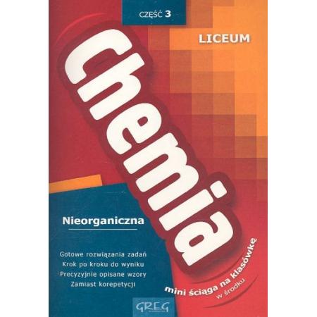 Chemia - Liceum cz. 3