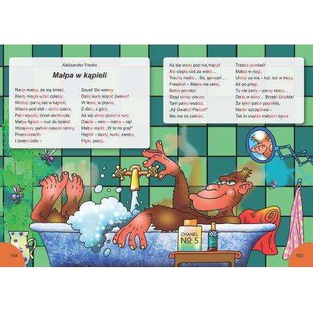 Elementarz. Czytamy bajki metodą sylabową. Małpa w kąpieli?
