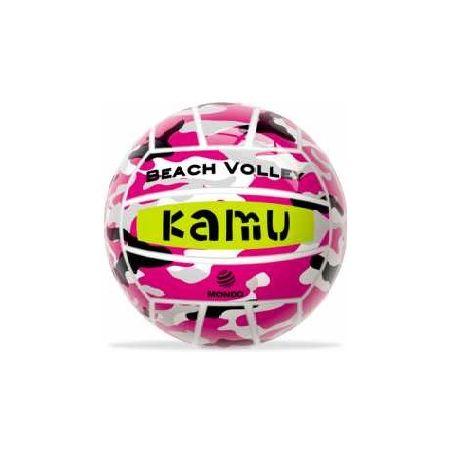 Piłka siatkowa gumowa KAMU MONDO Różowa