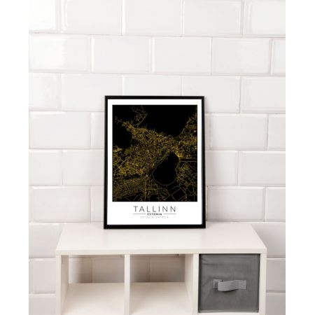 Talin złota mapa. Plakat