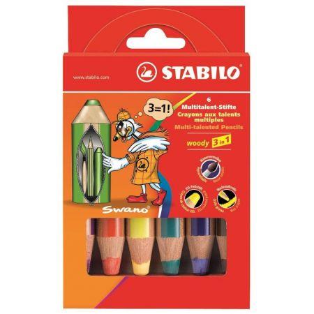 Kredki Woody 6 kolorów STABILO
