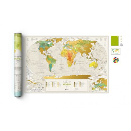 Mapa zdrapka świat travel map geography world