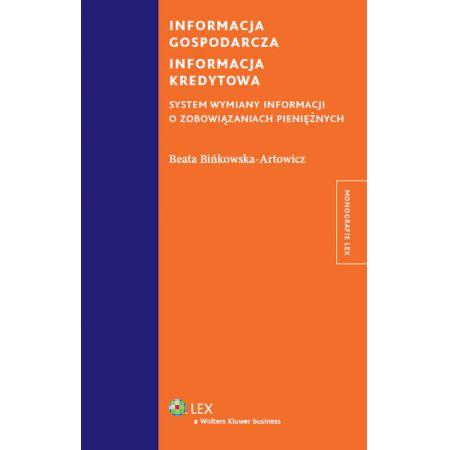 Informacja gospodarcza Informacja kredytowa