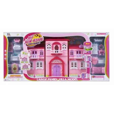 Domek dla lalek z akcesoriami MEGA CREATIVE 440452