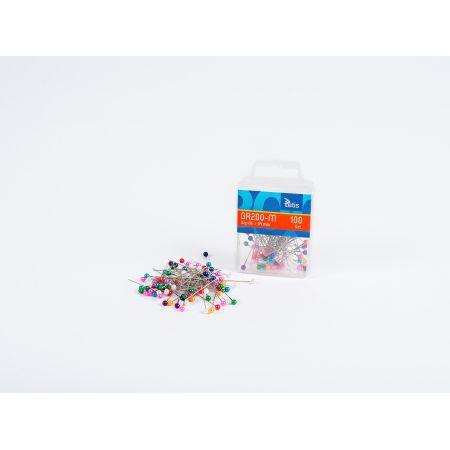 Szpilki Tetis kolor mix 34 mm 100 sztuk