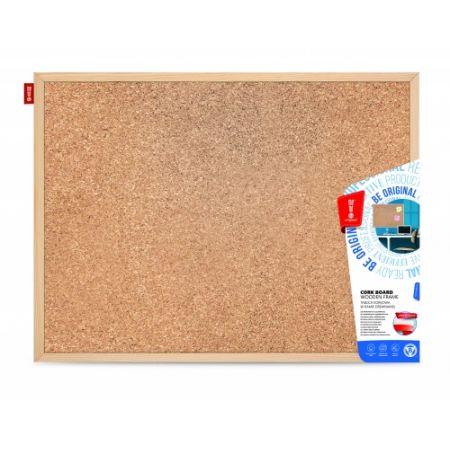 Tablica korkowa 60x40 cm drewniana AMEX MTC060040