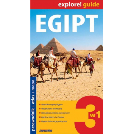 Egipt 3w1 Przewodnik + atlas + mapa laminowana