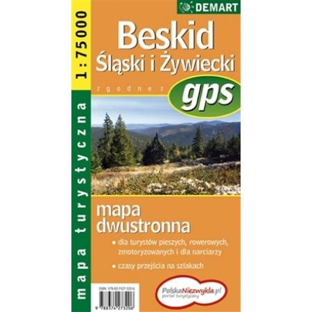Mapa Turs. Beskid Śląski i Żywiecki DEMART