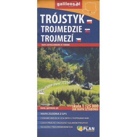 Mapa sztabowa - Trójstyk/Trojmedzie/Trojmezi