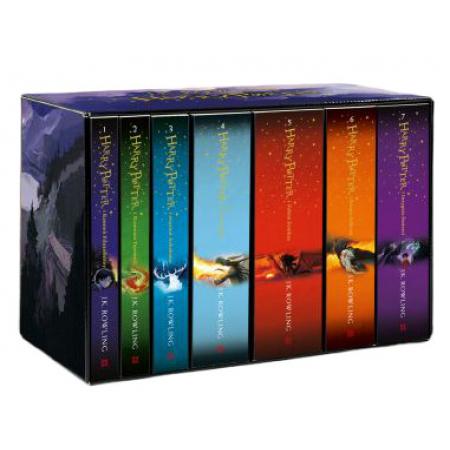 Pakiet Harry Potter z okładkami Jonny'ego Duddle'a. Tomy 1-7