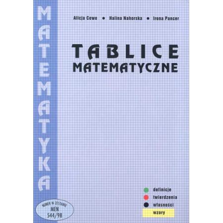 Tablice Matematyczne Cewe opr brosz PODKOWA