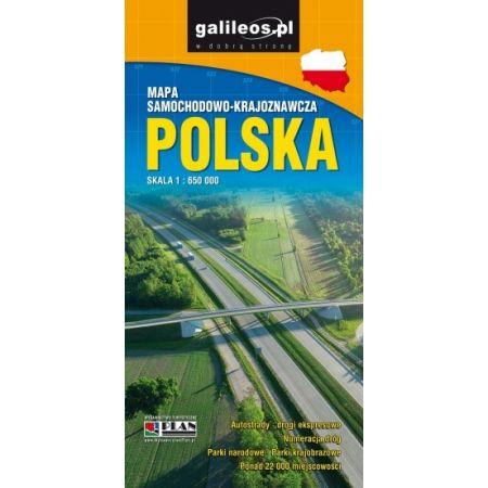 Mapa samochodowo-kraj. - Polska 1:650 000