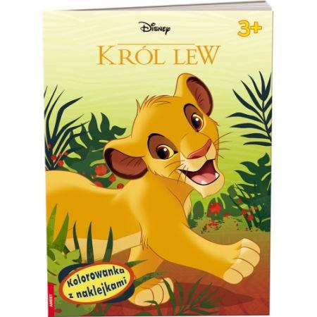 Król Lew. Kolorowanka z naklejkami