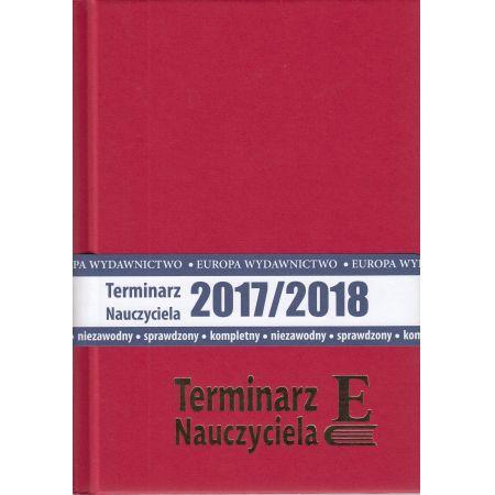 Terminarz nauczyciela 2017/2018 bordowy