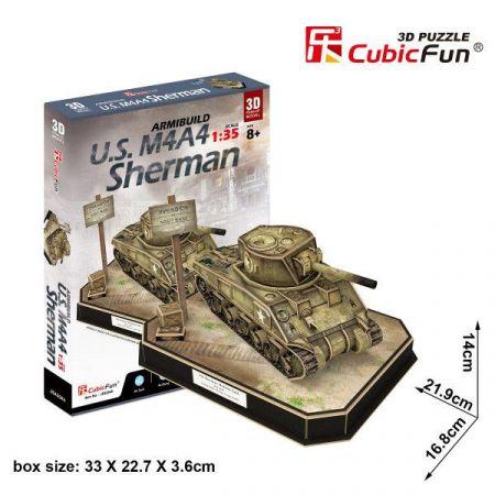 Puzzle 3D U.S. M4 A4 Sherman 263el