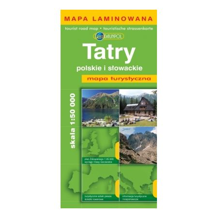 Mapa tur. - Tatry polskie i słowackie plastik