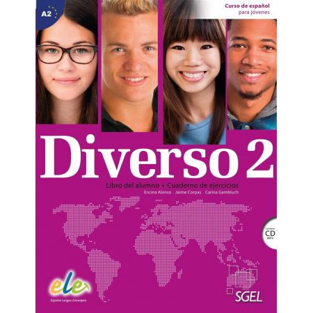 Diverso 2 podręcznik + ćwiczenia + CD