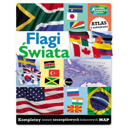 Flagi świata. Zeszyt z naklejkami