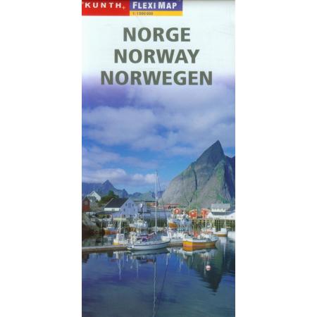 Norwegen Flexi map 1:1000 000