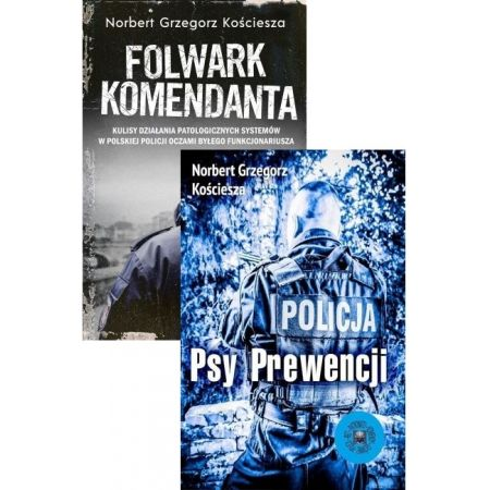 Zestaw 2 książek: Psy prewencji i Folwark komendanta