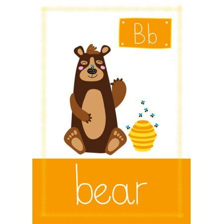 Honey Bear. Plakat premium