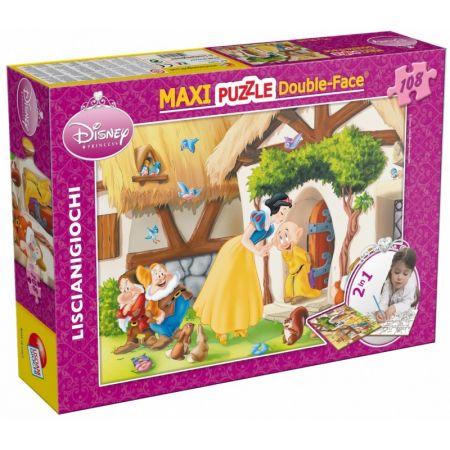 Puzzle dwustronne maxi 2w1 Królewna Śnieżka 108
