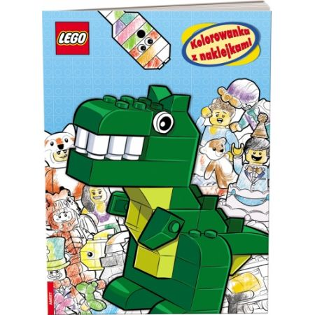 Lego Iconic. Kolorowanka z naklejkami
