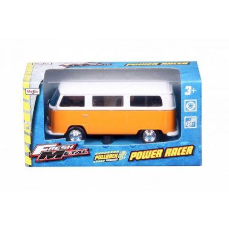 MI 21001-48 Auto Power Racer Volkswagen T2 Bus pomarańczowy