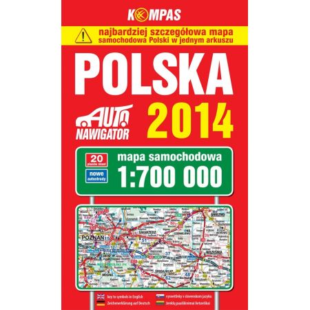 Polska 2014 Mapa samochodowa 1:700 000