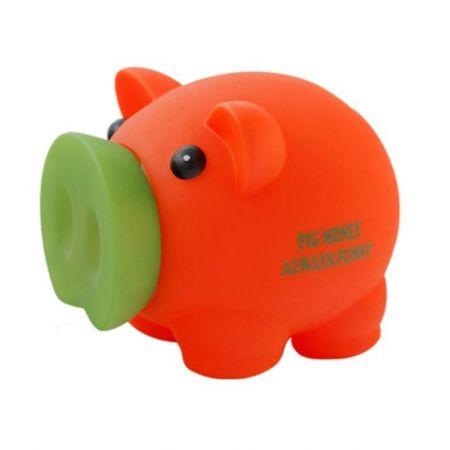 Skarbonka Świnka Pig Money pomarańczowa MAPED
