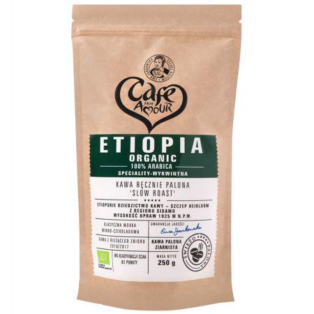Kawa ziarnista ręcznie palona 100% Arabica Etiopia