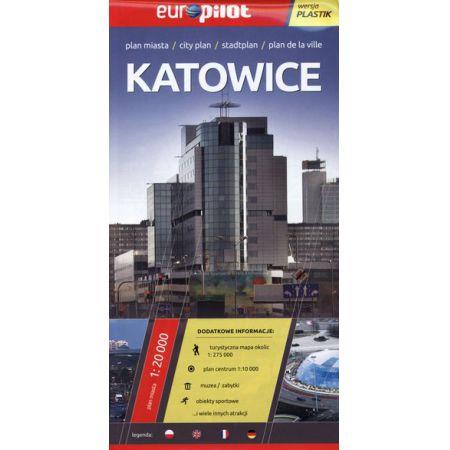 Katowice plan miasta 1:20 000 Europilot/plastik