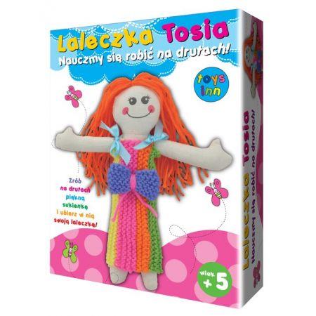 Lalkeczka Tosia. Nauczmy się robić na drutach!
