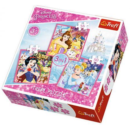 Puzzle 3w1 Zaczarowany świat Księżniczek TREFL