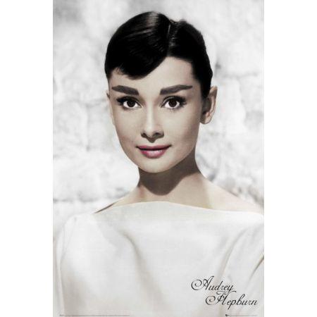 Audrey Hepburn W Bieli Plakat