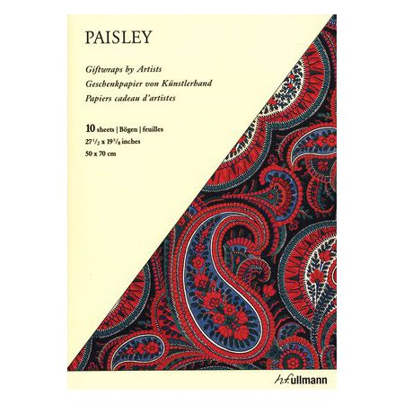 Artystyczny papier prezentowy: Paisley