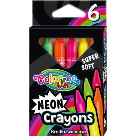 Kredki Colorino Kids świecowe neonowe trójkątne 6 kolorów